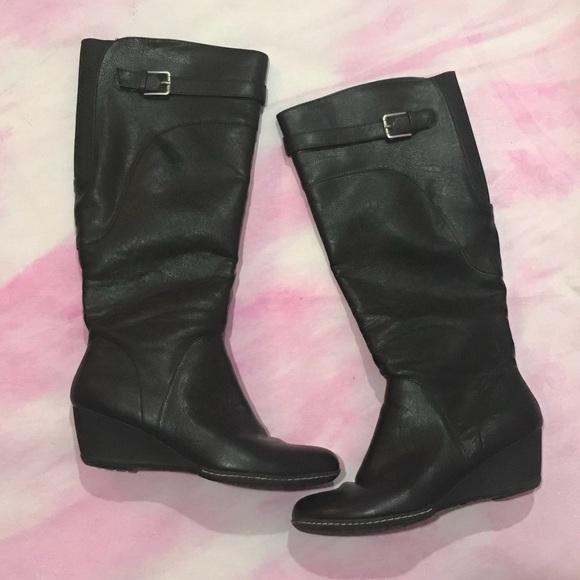 Low Wedge Heel Boots